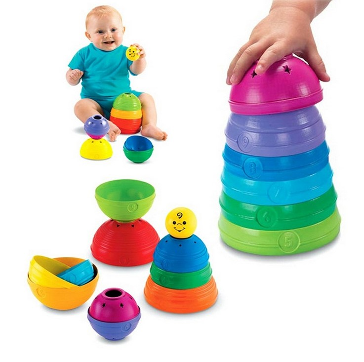 Fisher-Price Roll Cups Basics Stack Baby Creative Educational Toy Brilliant Pierwsze Klocki Kid Toys for Children Birthday Gift