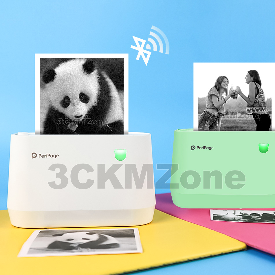 304 Dpi Foto Peripage Pocket Printer 77 Mm Thermische Mini Pc Mobiele Telefoon Android Ios Printer Label Sticker Bluetooth Usb printer