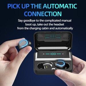 Image 2 - F9 5 Bluetooth 5.0 אוזניות TWS טביעת אצבע מגע אוזניות HiFI באוזן סטריאו אוזניות אלחוטי אוזניות עבור ספורט & משחקים
