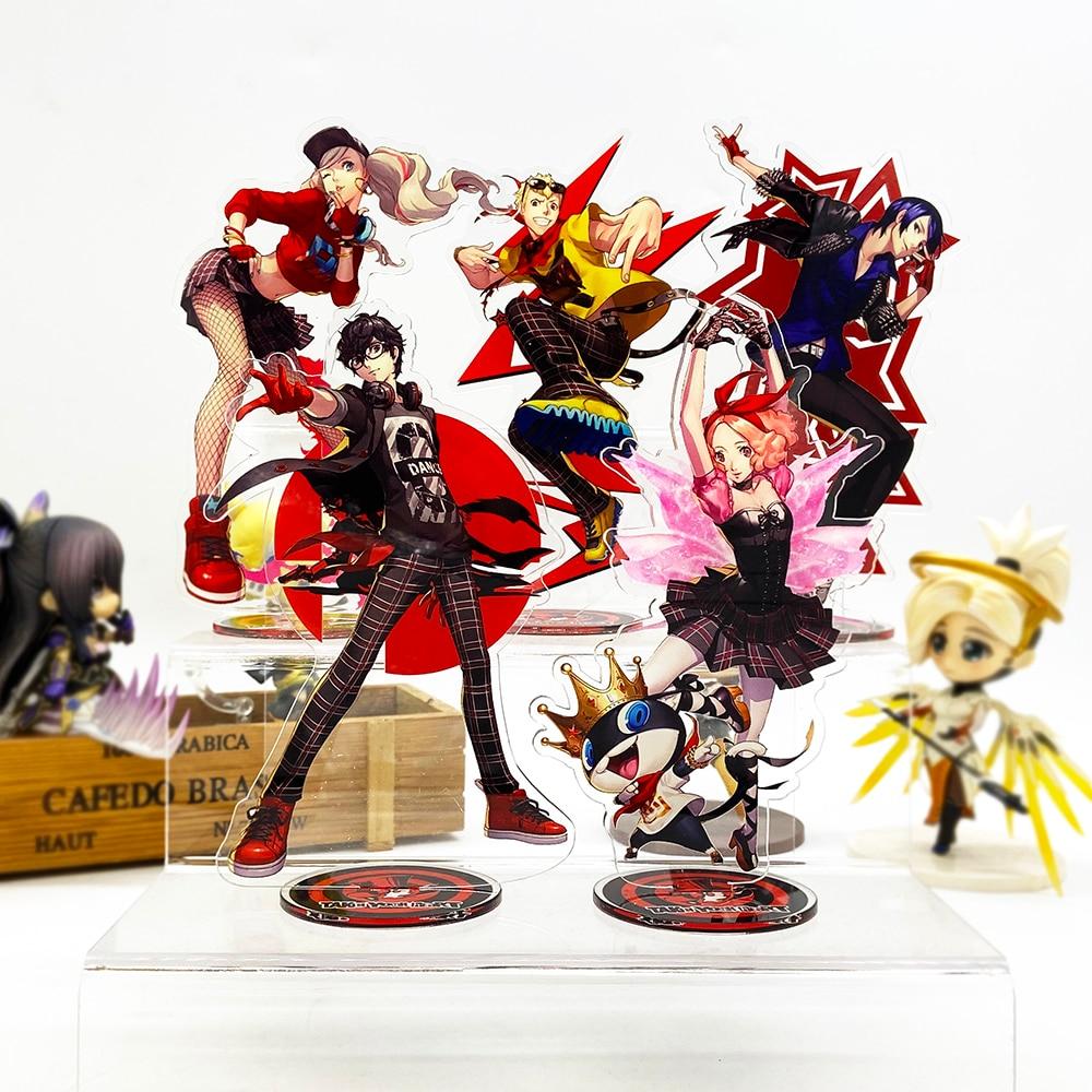 Persona5 P5 Hero Ryuji Anne Yusuke Haru Morgana HM Acrylic Stand Figure Model Plate Holder Cake Topper Game Japanese