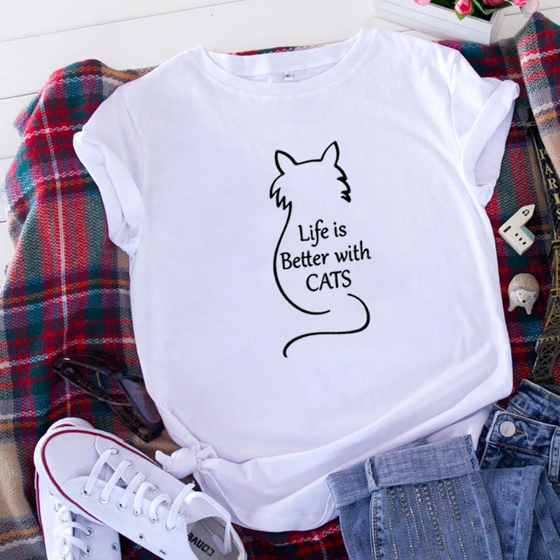 Life Is Better with Cats T-Shirt