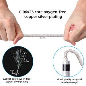Image 5 - FDBRO 16 rdzeni posrebrzany kabel z wtyczką z włókna węglowego 2.5mm/3.5mm/4.4mm 2PIN A2DC IE80 IM kabel MMCX kabel do słuchawek