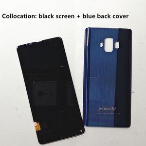Image 2 - Orijinal LCD VKworld S8 5.99 dokunmatik LCD ekran ekran + arka kapak pil konut Digitizer meclisi yedek aksesuarlar