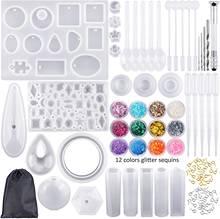 Набор из 98 силиконовых литых форм и инструментов с черной сумкой