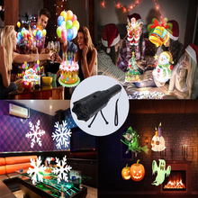 Рождественский, Хэллоуин, подарок на день рождения, Детская проекционная лампа с мультяшным рисунком, фонарик с картой