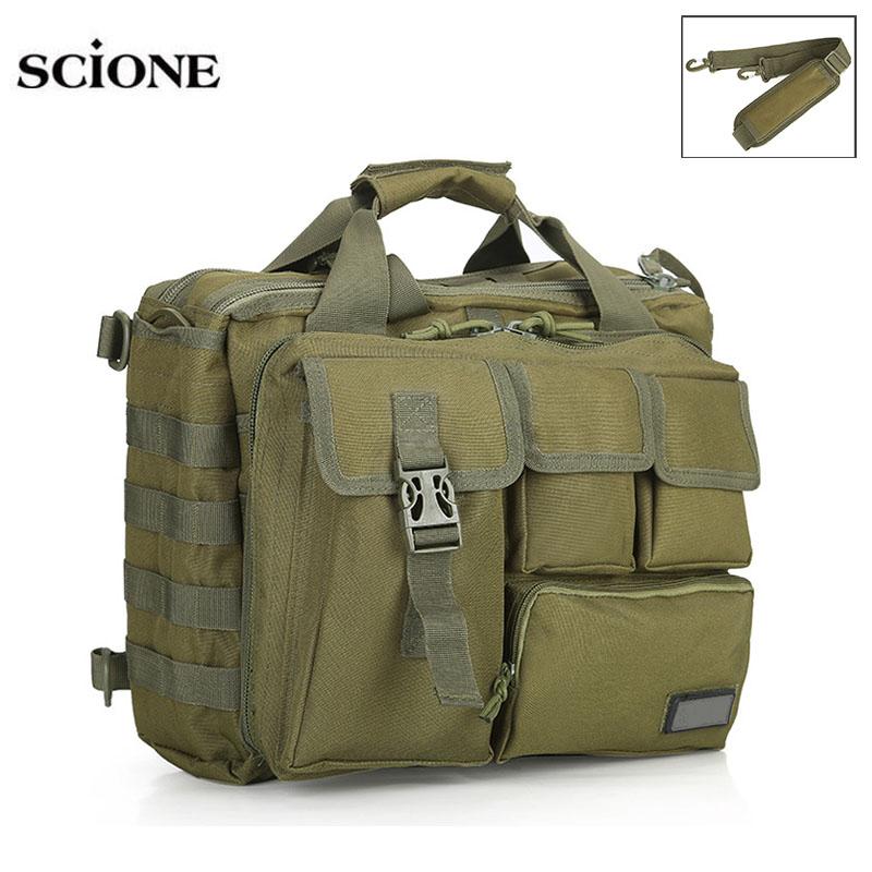15'' Molle Military Laptop Bag Tactical Computer Backpack Messenger Fanny Belt Shouder Bags Camping Outdoor Sports Pack XA672WA