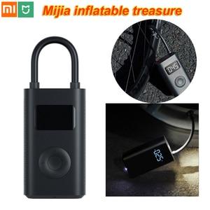 Image 1 - Xiaomi Mijia Opblaasbare schat Digitale Monitoring Compressor Tire Draagbare Ingebouwde Batterij Multi nozzle voor Smart Home Bike