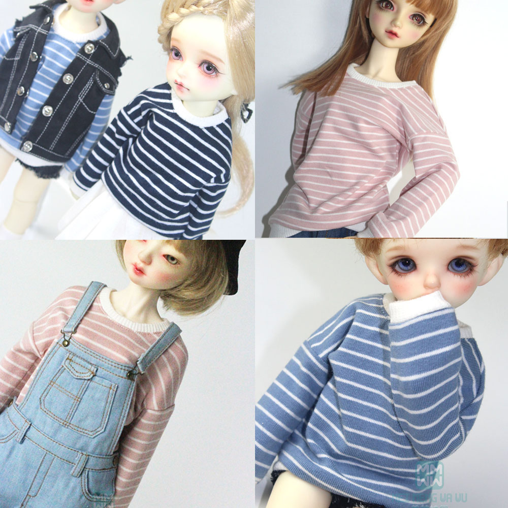 BJD Doll Clothes Accessorise For 27-72cm 1/3 1/4 1/6 BJD Uncle YOSD MYOU SD DD Doll  Striped T-shirt, Sweater
