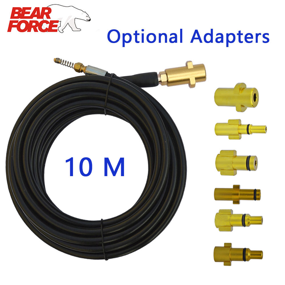 10 Meters 160bar Car Washer Sewer Drain Water Cleaning Hose Pipe Cleaner For High Pressure Washer