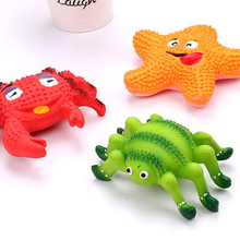 Pet Dog Chew Toys Extra-tough Rubber Ball Toy Funny Interactive Crab Spider Starfish Dog Toys For Dog Tooth Clean Ball Of Food цена и фото