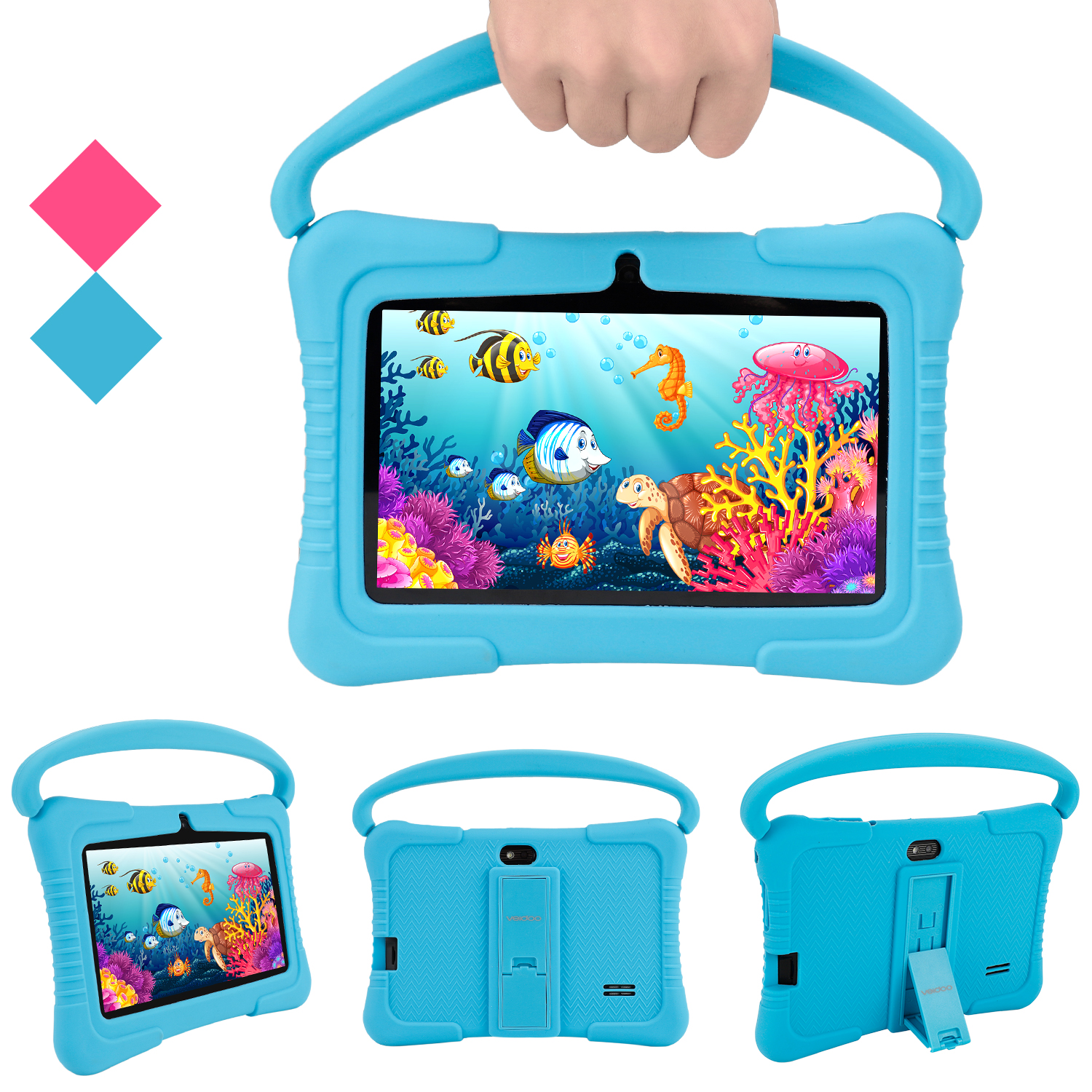 7 Inch New Kids Tablet Handle Android Education Baby Learning Tablet Pc