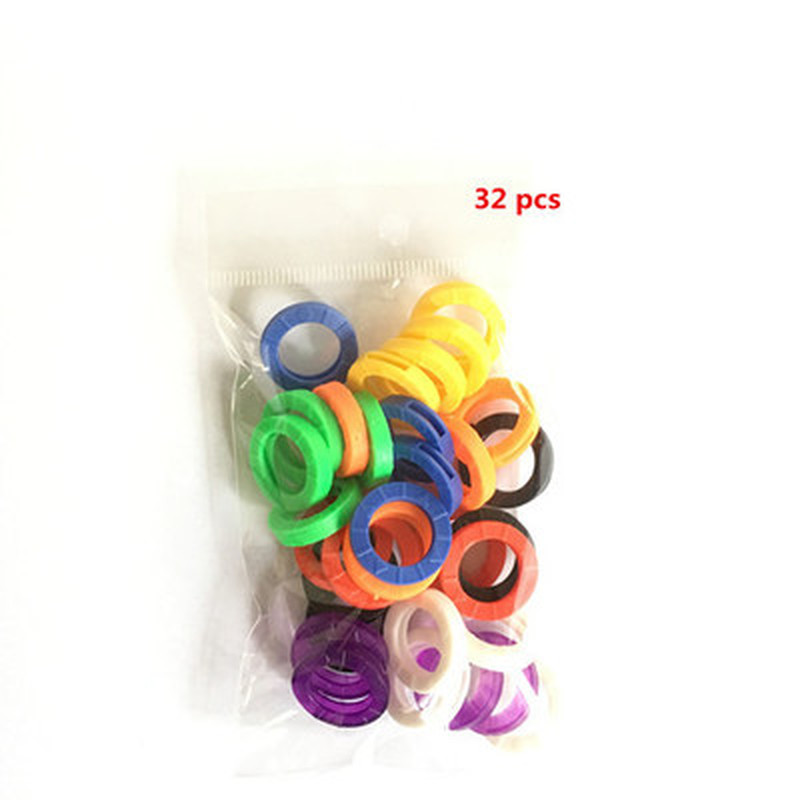8~50pcs Mutli-color Hollow Silicone Key Cap Covers Topper Keyring Fun Keychain