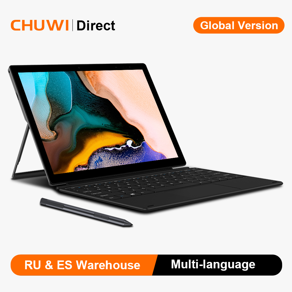 CHUWI 12 дюймов 2K IPS экран Intel Celeron четырехъядерный Windows 10 Операционная система 8 Гб RAM 256 ГБ SSD планшетный ПК Две камеры