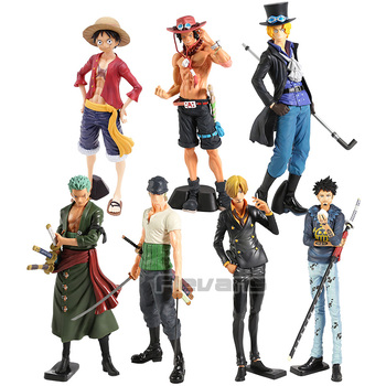 Anime One Piece Grandista Roronoa Zoro Monkey D Luffy Sanji Trafalgar Law Sabo PVC Figure Collectible Model Toy 1