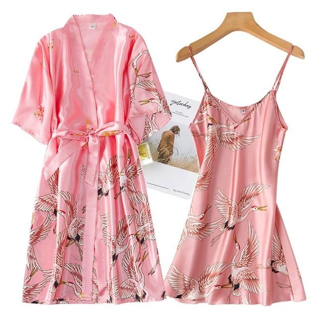 Nightwear Set with Robe 4