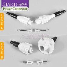 Laser Voeding Connector Adapter Hoogspanning Plug Socket Elektriciteit Draad Psu Kabel Voor CO2 Snijden Graveermachine Buis