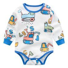 Infant Baby Bodysuit Newborn Baby Boys Girls Long Sleeve Cotton Jumpsuit
