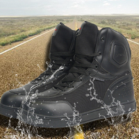 SHAD men motorcycle protection shoes men waterproof motorcycle Protect motor scooter boots motorbike racing locomotive shoes