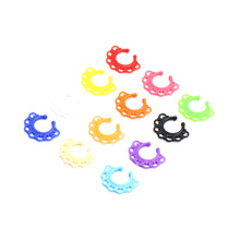 12pcs New Arrival Acrylic Hoop Nose Ring Perforation False Perforated Septum Record Digital Hanger for Jewelry