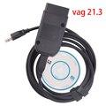 Obd2 сканер с шестигранной головкой V2 VAGCOM VAG COM 21,3 Интерфейс Электрический тестер для VW AUDI Skoda сиденья ATMEGA162 + 16V8 + FT232RQ