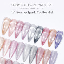 Ice Hot Jelas Cat Eye Primer Kuku Gel Kristal Berwarna-warni Transparan Nail Primer Lem 9D Lampu Variasi Terapi Mata Kucing gel(China)