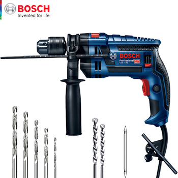 Bosch High Power 750W Electric Hammer Electric Drill Two Functions Household Impact Drill Multi-function Electric Pick Slotter japan makita hr2610 impact drill electric hamme electric pick 3 function power tools powerful 800w motor 4 600ipm 1 200rpm