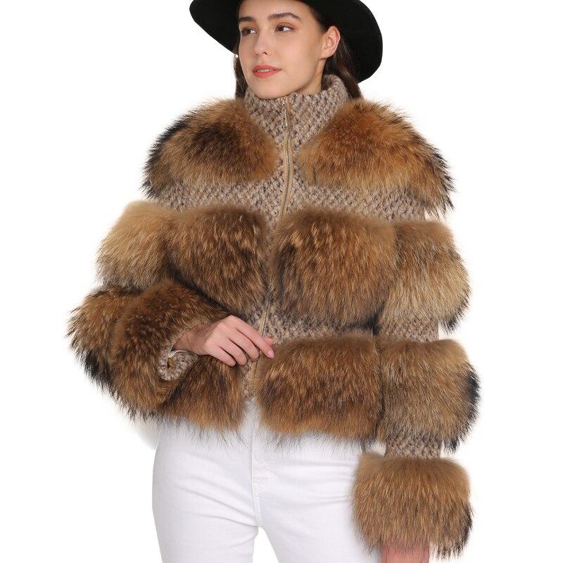 Kurtka z futra szopa kobiety zima prawdziwe futro płaszcz wysokiej jakości naturalne futro szopa płaszcz w Prawdziwe futro od Odzież damska na  Grupa 1
