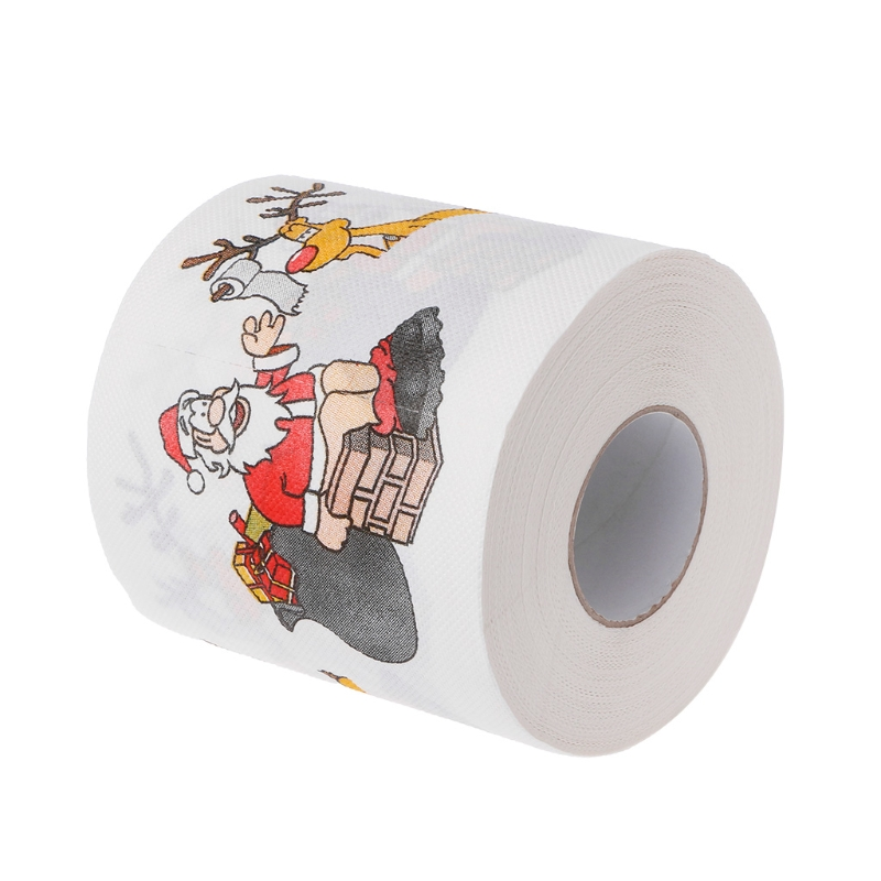 2 Layers Christmas Santa Claus Deer Toilet Roll Paper Tissue Living Room Decor