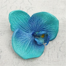 5PCS/pack Fabric Butterfly Artificial Orchid Flower Decorative Head Eternal Life Wall Decoration House Faux Fake Plant