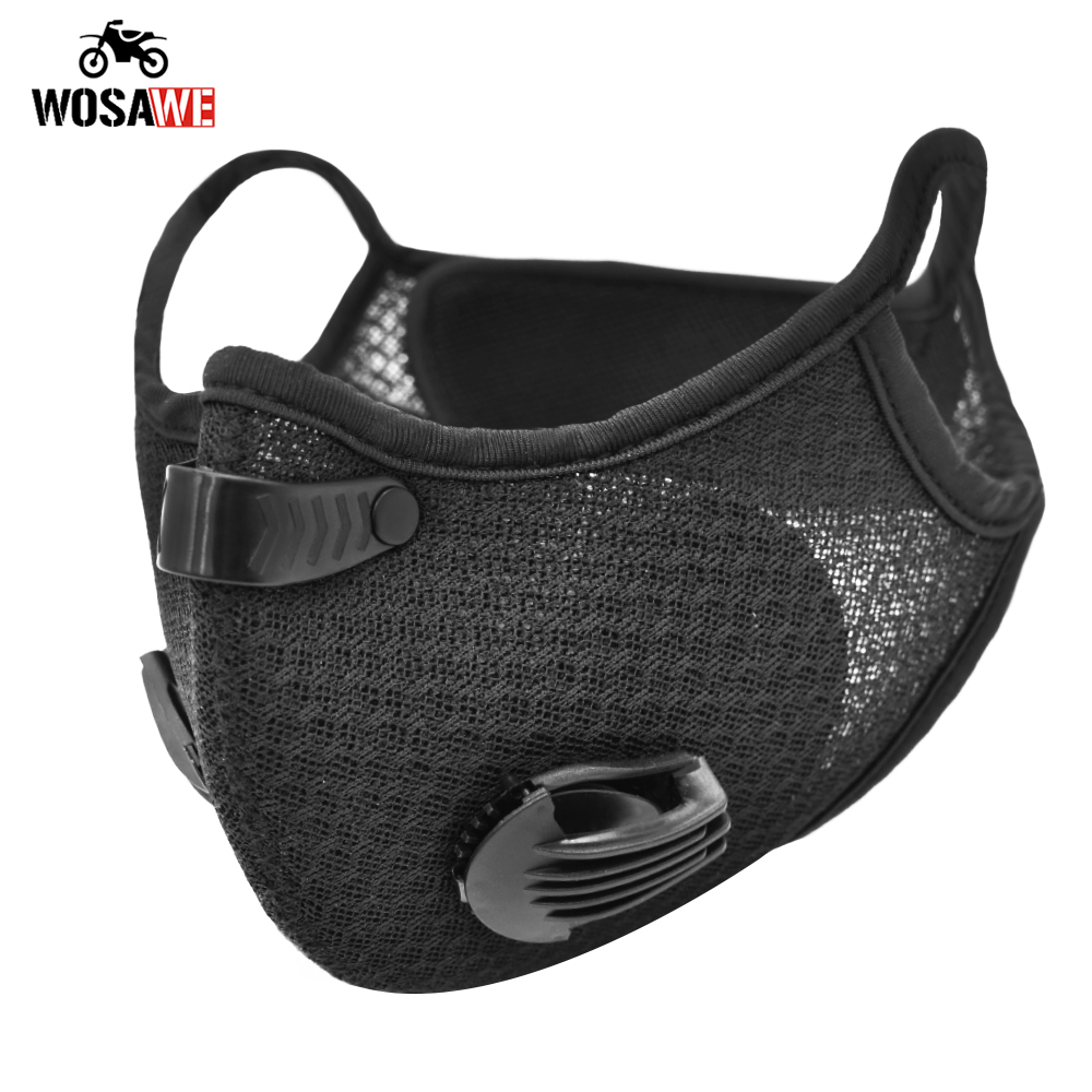 Motorcycle Mask Motorcycle Face shield Dust Replaceable Filter breathable valve replace Anti-Pollution Moto Dustproof Masks