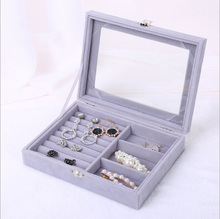 Flannel Portable Jewelry Box Home Travel Essential Ring Earrings Storage Gift Boxes for Jewellery