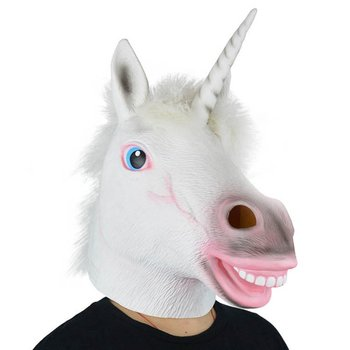 High quality Unicorn Horse Head Mask Halloween Costume Party Gift Prop Novelty Masks Latex Rubber Creepy