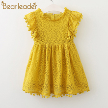 Bear Leader Girls Dress 2019 New Summer Brand Girls Clothes Lace And Ball Design Kids Princess Dress Party Dress For 3-7 Years все цены