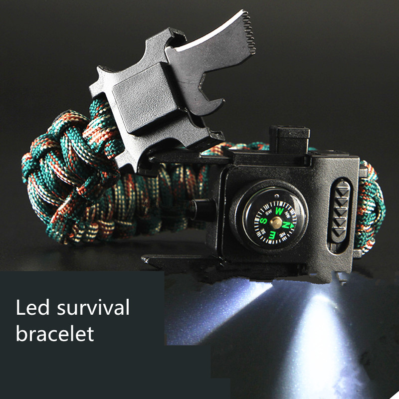Led-Lights-Paracord-550-4mm-Rope-Bracelet-Multi-Used-Parachute-Cord-Camping-Hiking-Fishing-Tour-First