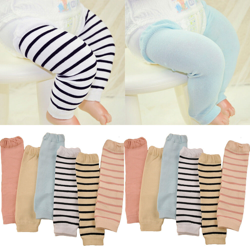 Fashion Baby Child Kid Solid Color Stripe Long Socks Tights Arm Leg Warmers WATXW0010