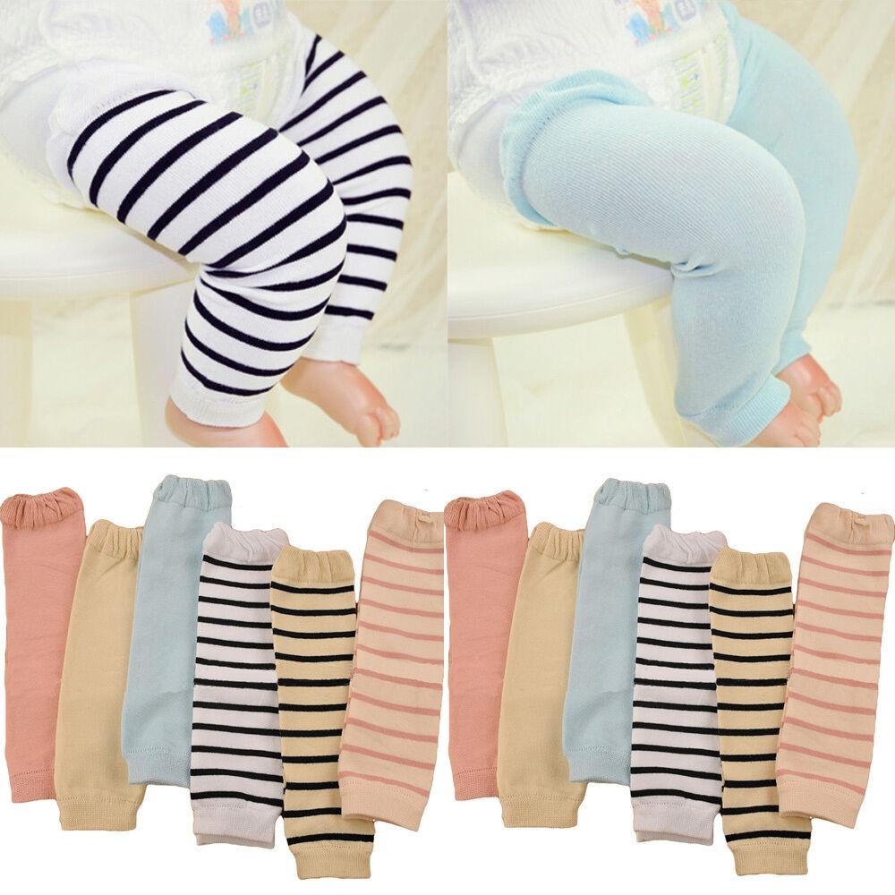 Fashion Baby Child Kid Solid Color Stripe Long Socks Tights Arm Leg Warmers WATXW0010