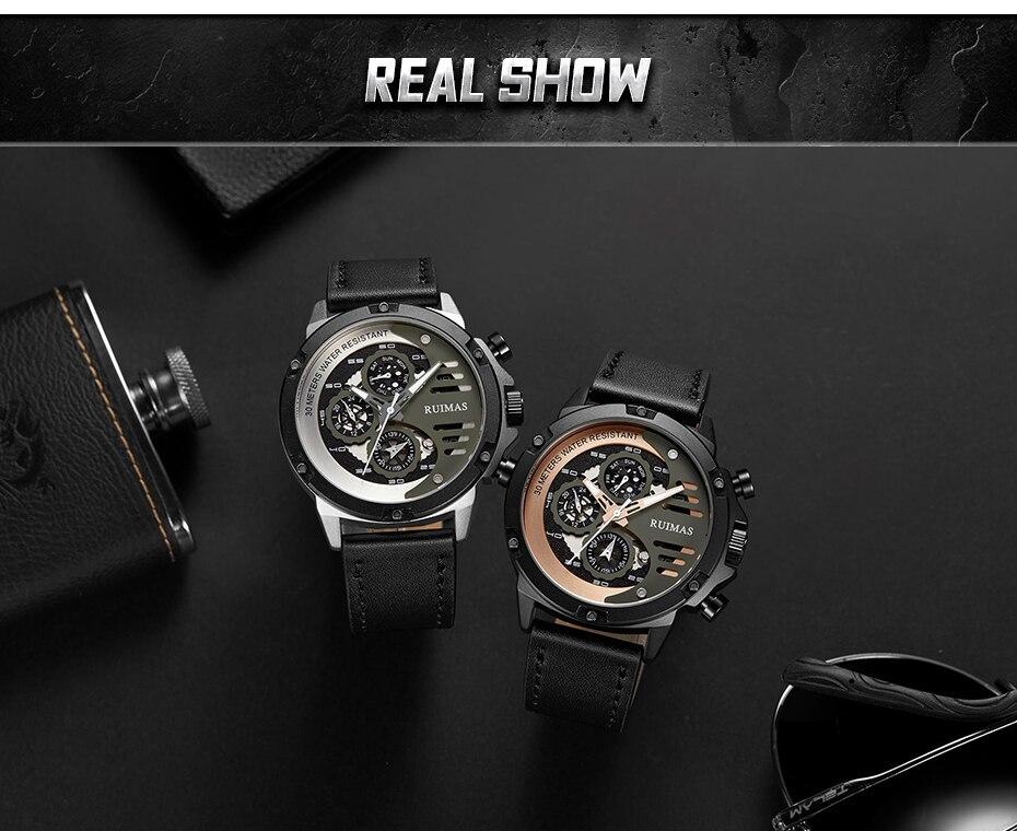 Aço inoxidável marca superior esporte relógio de