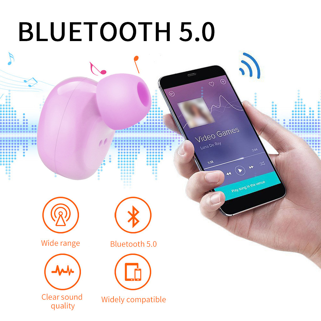 Colourful Wireless Bluetooth Earphone Headset With charging box For universal Wireless Headphones Blutooth Earphone Headset