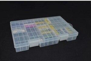 Image 2 - סופר נפח שקוף פלסטיק סוללה אחסון תיבת עבור ממוקם 100pcs AAA AA סוללה מחזיק מיכל coverd גימור ערכת תיבה