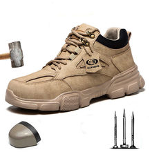 2020 New Men's Safety Shoes Indestructible, Smash-Resistant Stab-Resistant Steel Toe Work Boots Outdoor Sports Shoes Men's Boots