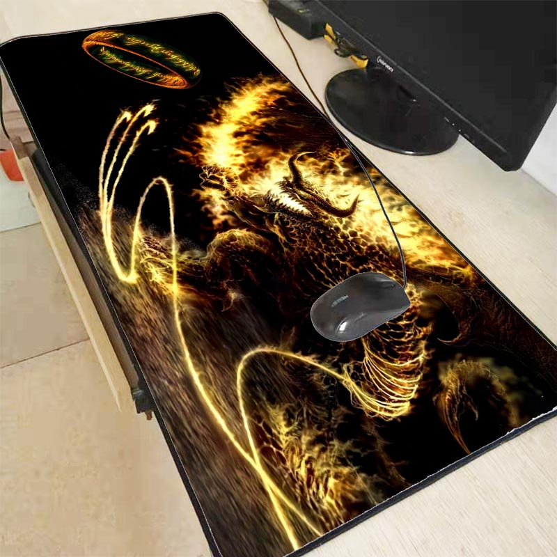 Mairuige 900x400x3mm Dragon Anime Lord Of The Rings Pad Waterproof Mouse Mat Computer Large Lock Edge Mousepad  Office Desk Mats