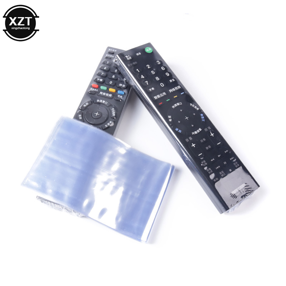10Pcs Clear Shrink Film Bag TV/Air Condition Remote Control Transparent Case Cover Protective Anti-dust Controller Bag 6/8*25cm 2