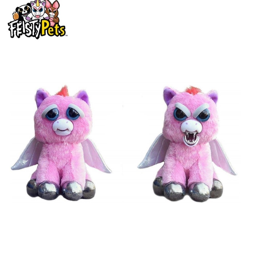 Feisty Pets toys stuffed plush angry animal doll gift pink pegasus