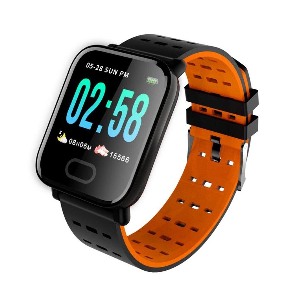 Smart Bracelet A6 Color Screen Heart Rate Blood Pressure IP67 Waterproof Sports Pedometer Bluetooth Bracelet