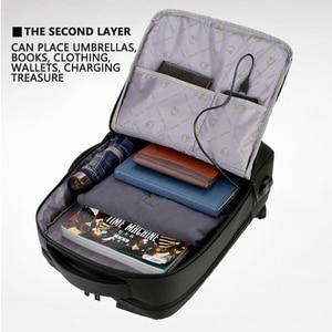 "Image 4 - 2019 Mens Anti theft 14 15.6"" inch Laptop Backpack USB Charging Waterproof Male Business Travel Back Pack  Boys School Bagpacks"