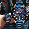 2019 LIGE Army Military Men Watch Luxury Brand Stainless Steel Wrist Watch Chronograph Business Quartz Watches Relogio Masculino