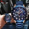 2019 LIGE armia wojskowy mężczyźni zegarek luksusowy marka nadgarstek ze stali nierdzewnej zegarek chronograf biznes zegarki kwarcowe Relogio Masculino
