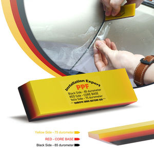 Image 2 - FOSHIO 3 Layer Soft Squeegee Carbon Fiber Sticker Remover Car Wrap Vinyl Film Install 2in1 Scraper Window Tint Car Cleaning Tool
