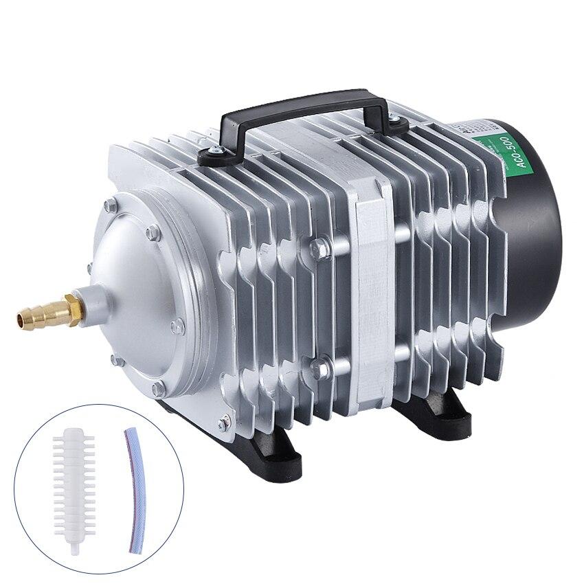 ACO-500 280L/min 500 W Elettromagnetica del compressore d'aria portatile AC 220 V aquacuture idroponico Aquarium fish Oxygen air