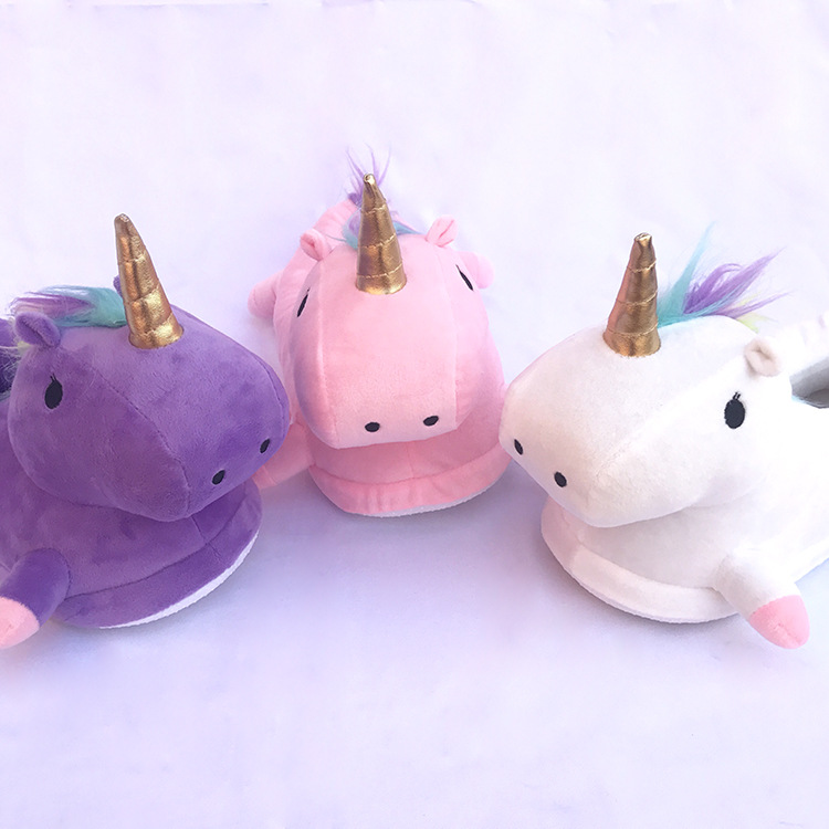Toddler Kids Unicorn Slippers Cartoon Animal Claw Kigurumi Onesies Pajama Baby Home Shoes Boys Girls Adult Casual Cosplay Wear